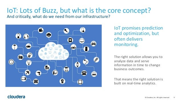 9© Cloudera, Inc. All rights reserved. IoT: Lots of Buzz, but what is the core concept? And critically, what do we need fr...