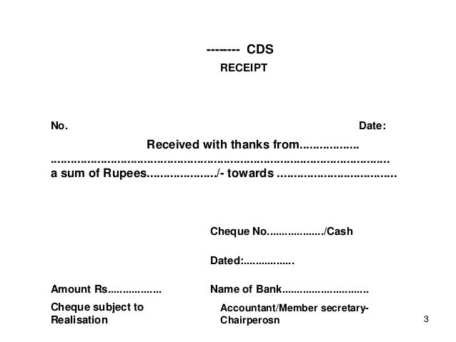 Doc12401754 Cheque Receipt Format Cash Cheque Receipt Format – Cheque Receipt Format