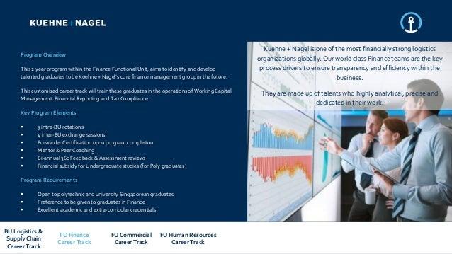 Kuehne + Nagel Singapore 2019 graduate program overview