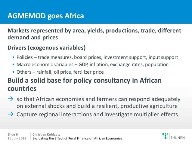 the effects of the african economies on the environment Impact on the economy the political environment in a country affects its economic environment the economic environment, in turn, affects the performance of a.