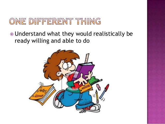  Understand what they would realistically be ready willing and able to do