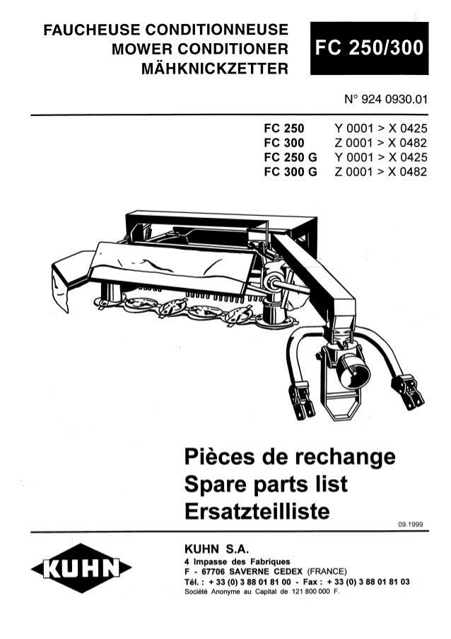 kuhn fc 250 mower conditioner rh slideshare net 313 Kuhn FC Mower Conditioner FS 17 Kuhn Mower Conditioner