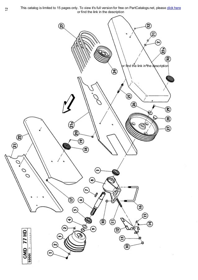 Kuhn Gmd77 Parts Manual