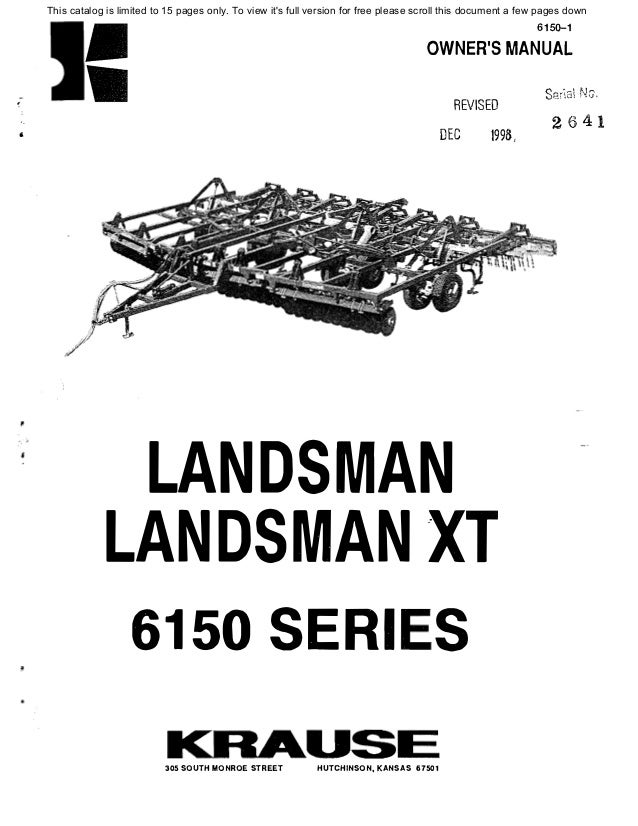 Kuhn Landsman 6150 manual