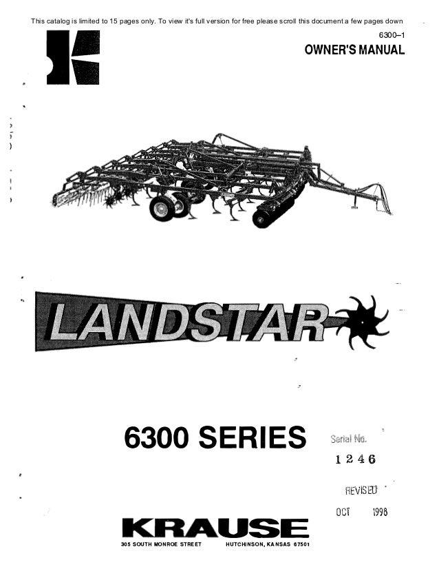 Kuhn landstar 6300 manual