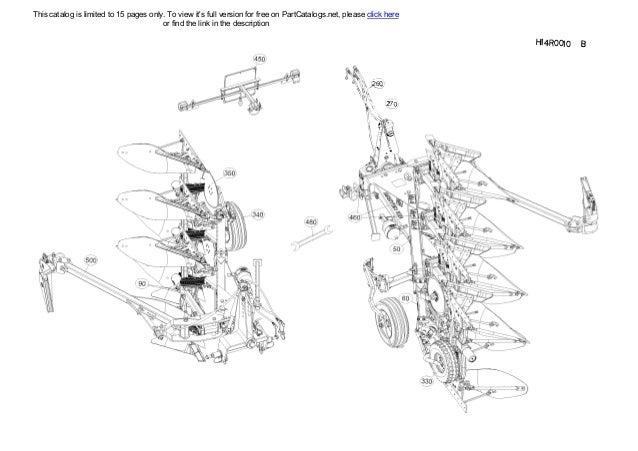 Kuhn KM 5.29 13ME01 Mounted reversible plough parts list