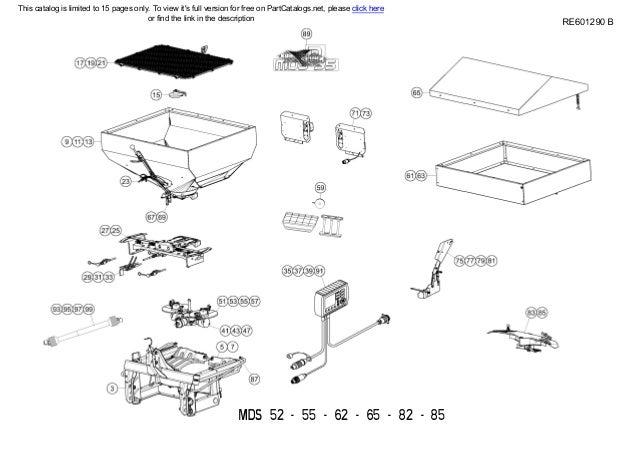Kuhn Fertilizer Spreader MDS52-55-62-65-82-85 Spare parts list