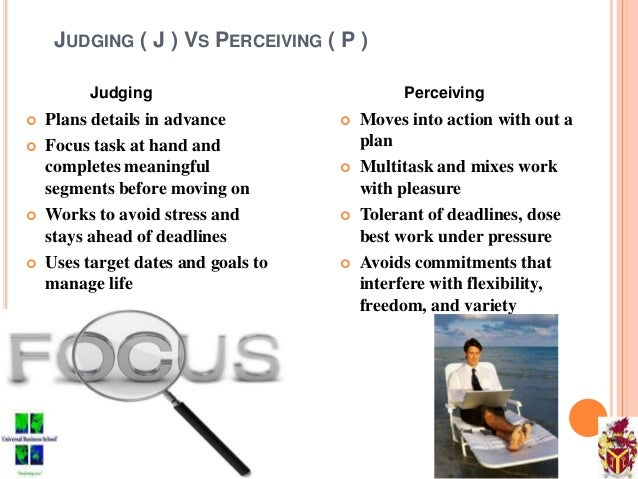 Mbti judging perceiving