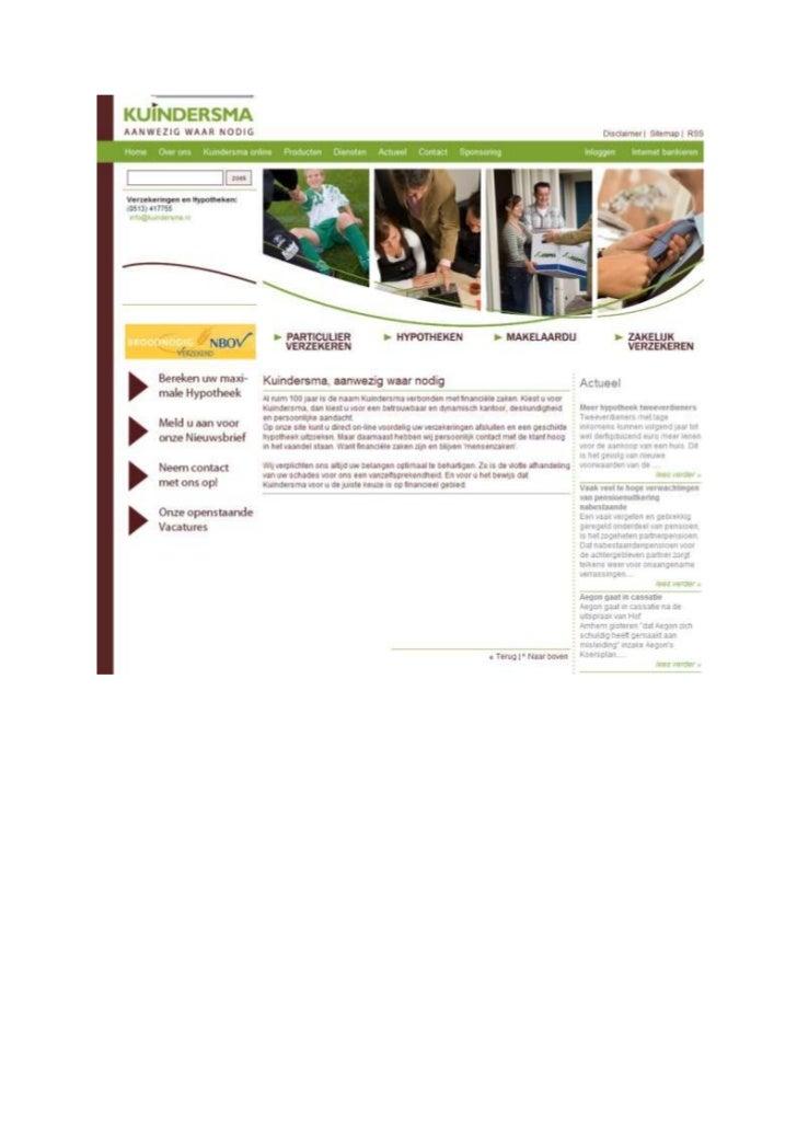 TGJ Communicatie Kuindersma Verzekeringen huisstijl en webteksten