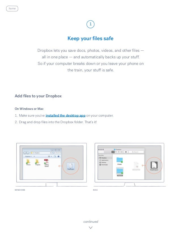 Get started with dropbox Slide 2