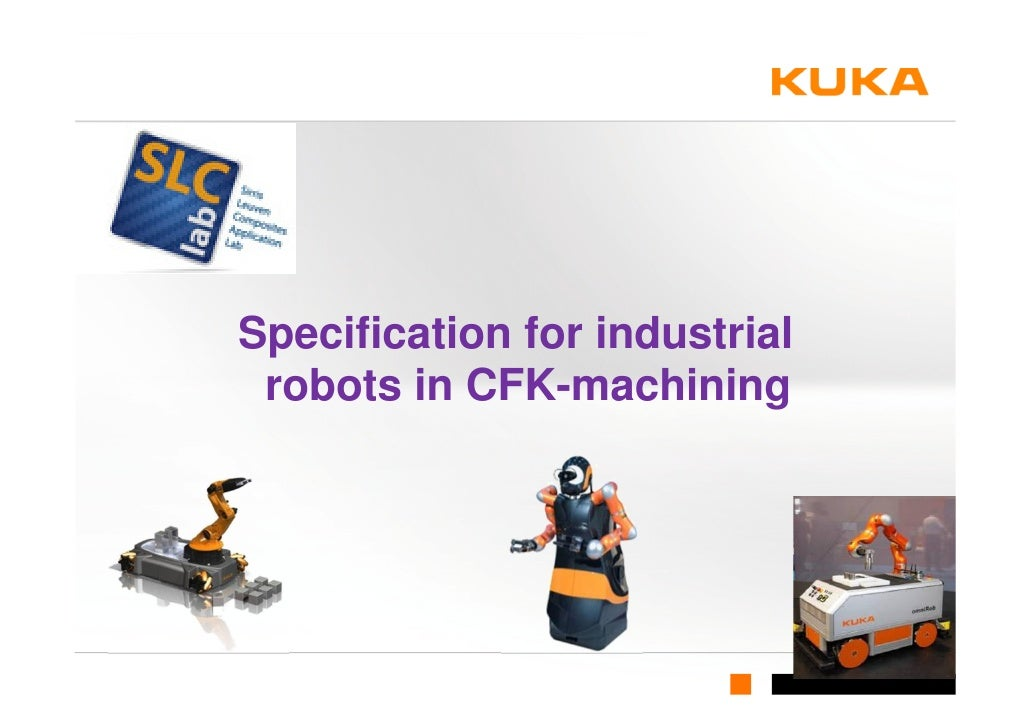 Specification for industrial robots in CFK-machining