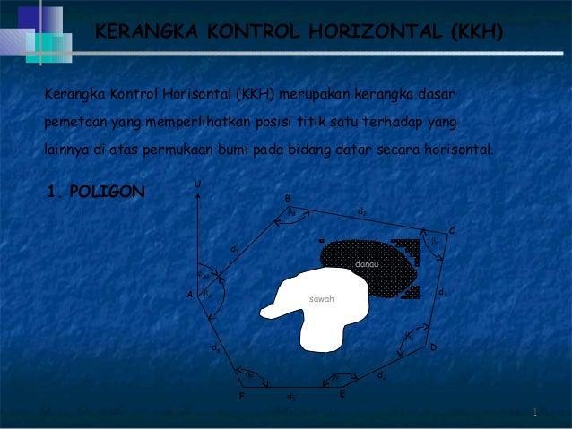 11 Kerangka Kontrol Horisontal (KKH) merupakan kerangka dasar pemetaan yang memperlihatkan posisi titik satu terhadap yang...