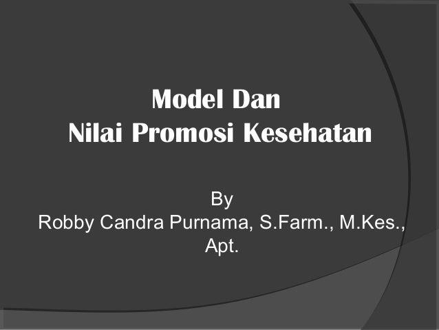 Kul6 Model Promosi Kesehatan