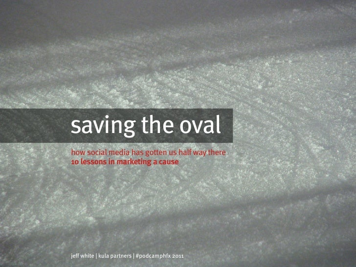 saving the ovalhow social media has gotten us half way there10 lessons in marketing a causejeff white | kula partners | #p...