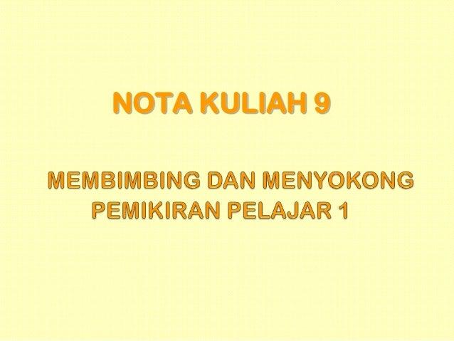 NOTA KULIAH 9