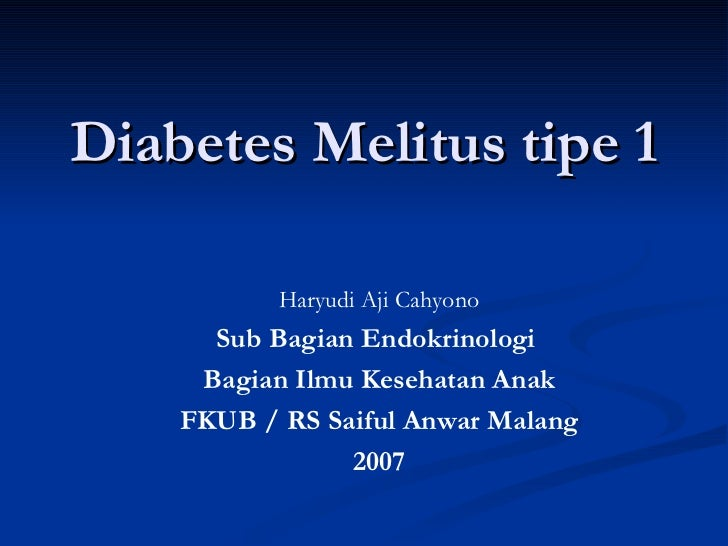 diagnostica keperawatan diabetes melitus tipe 1