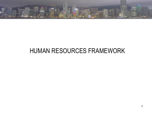 1  CHAPTER ONE  HUMAN RESOURCES FRAMEWORK