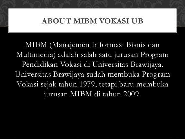 Kuliah Singkat dan Cepat Kerja MIBM VOKASI UB Slide 2