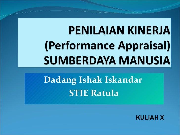Dadang Ishak Iskandar  STIE Ratula KULIAH X