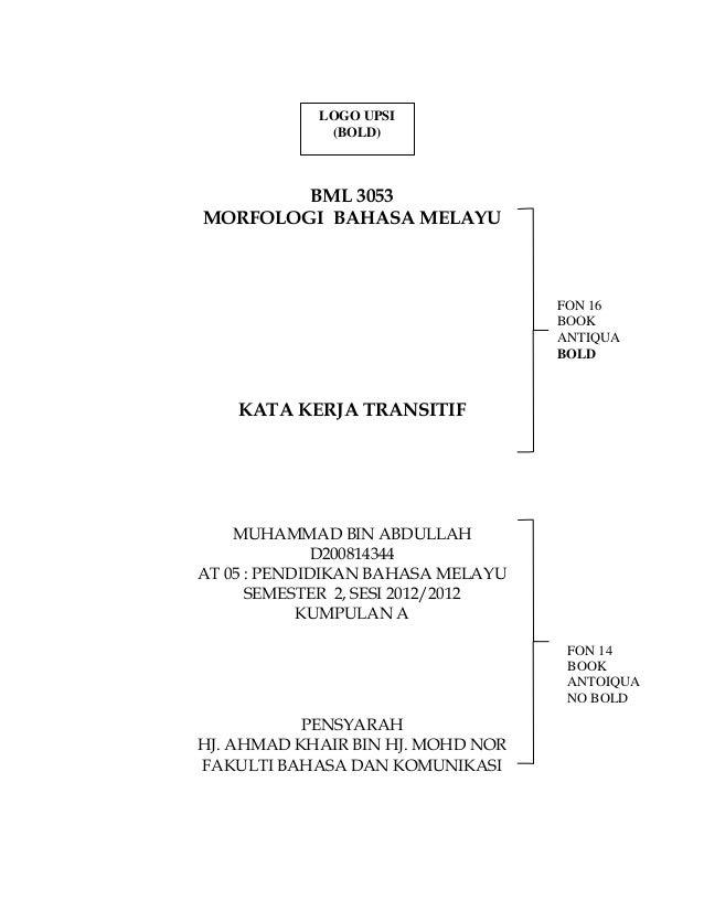 LOGO UPSI             (BOLD)        BML 3053MORFOLOGI BAHASA MELAYU                                   FON 16              ...