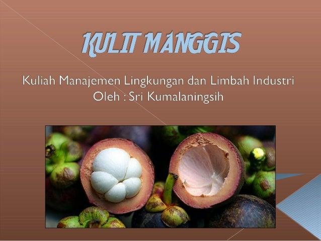  Produksi manggis Indonesia pada tahun 2007 mencapai112.722 ton namun, hanya sekitar 5.697 ton dari jumlahtotal produksi ...