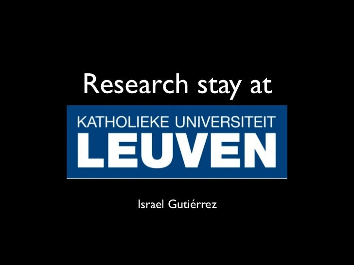 Research stay at    Israel Gutiérrez