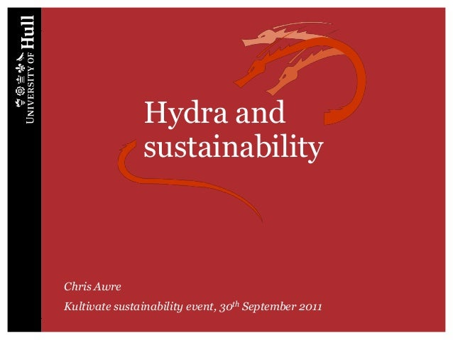 Hydra and               sustainabilityChris AwreKultivate sustainability event, 30th September 2011