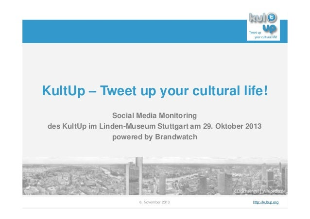 KultUp – Tweet up your cultural life! Social Media Monitoring des KultUp im Linden-Museum Stuttgart am 29. Oktober 2013 po...