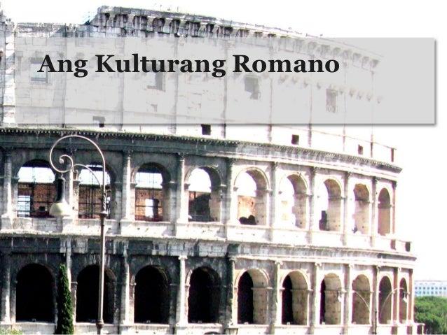 Ang Kulturang Romano
