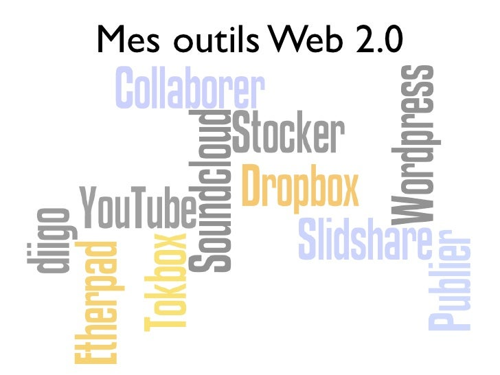 Mes outils Web 2.0
