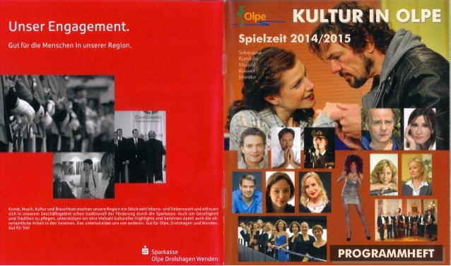 Kultur in Olpe - Programmheft 14/15