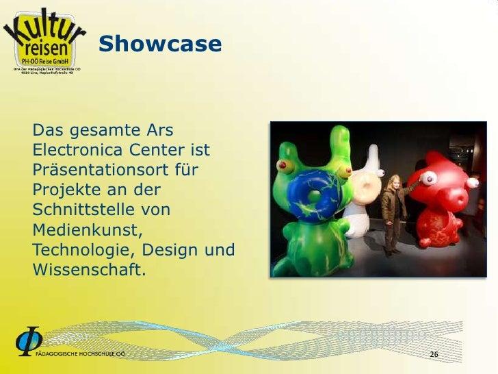 Showcase   Das gesamte Ars Electronica Center ist Präsentationsort für Projekte an der Schnittstelle von Medienkunst, Tech...