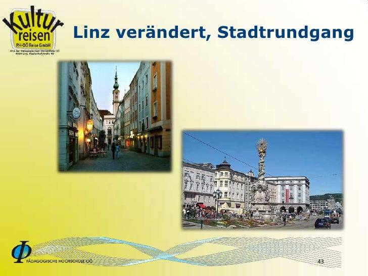 Linz verändert, Stadtrundgang                              43