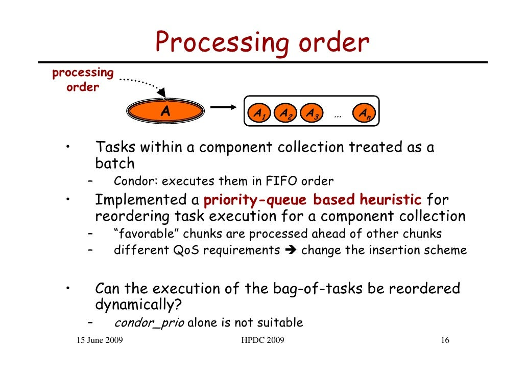 Processing order processing   order                        A               A1   A2     A3   …   An    •         Tasks with...