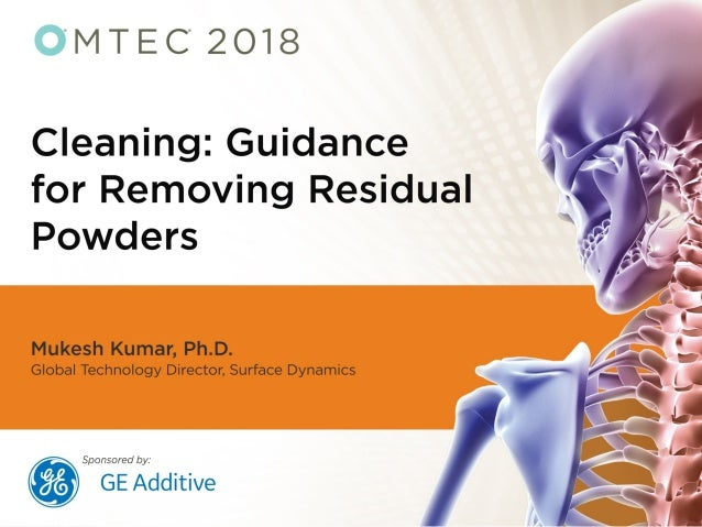Mukesh Kumar Global Technology Director Business confidential 2 Cleaning and Surface Modification of Orthopedic Implants m...