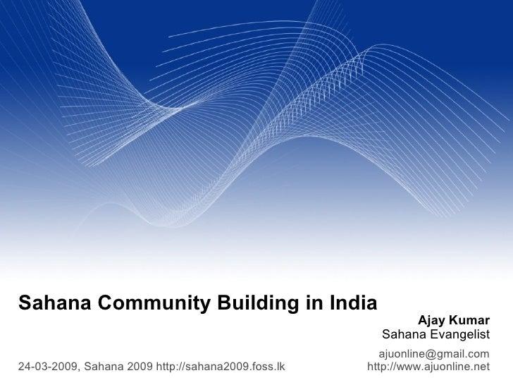 Sahana Community Building in India                                                            Ajay Kumar                  ...