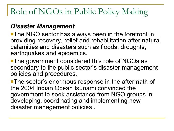 Natural Disaster Government Programs
