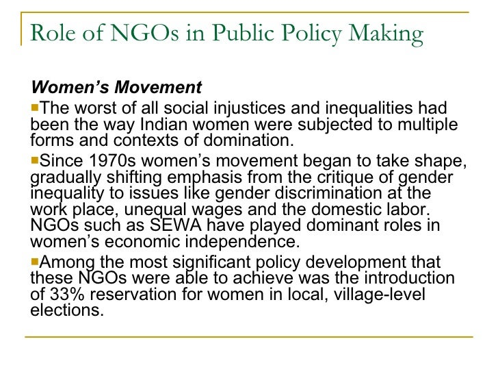 """ngos and policy making in nigeria Agencies, and civil society organizations at the conference """"making macro social analysis work for policy dialogue"""", held in washington, dc, may 16–19, 2006 this report is based on the analysis of 14 pilot country social."""
