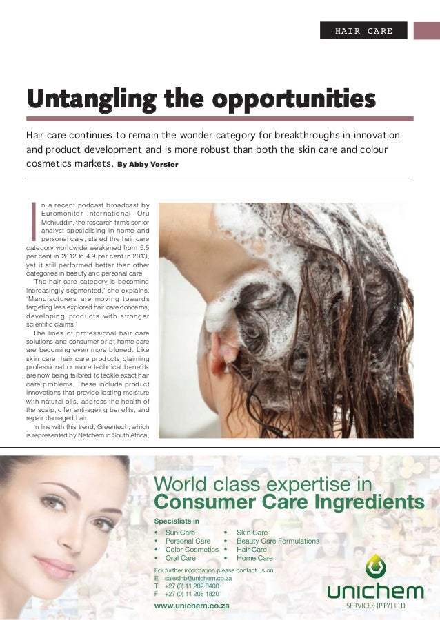 HAIR CARE I n a recent podcast broadcast by Euromonitor International, Oru Mohiuddin, the research firm's senior analyst s...