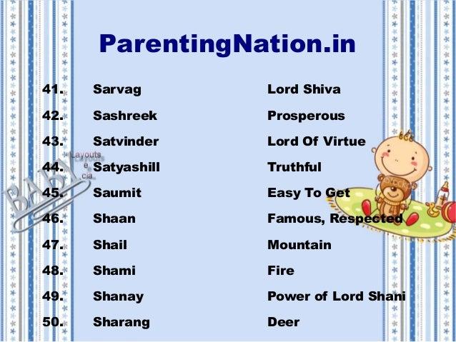 kumbh rashi baby boy names with meanings