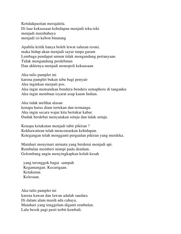 Kumpulan Puisi