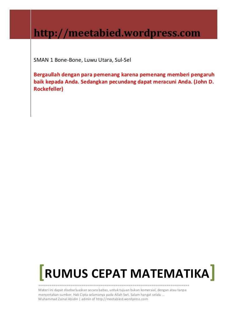 http://meetabied.wordpress.comSMAN 1 Bone-Bone, Luwu Utara, Sul-SelBergaullah dengan para pemenang karena pemenang memberi...