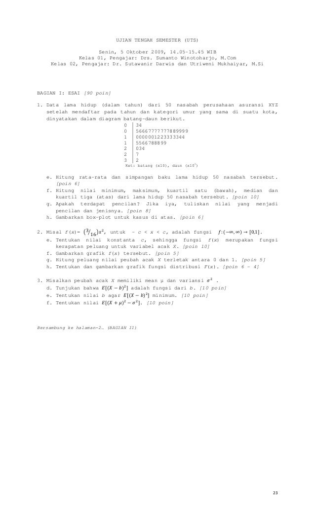 Modul Matematika kelas X semester 2 kurikulum 2013