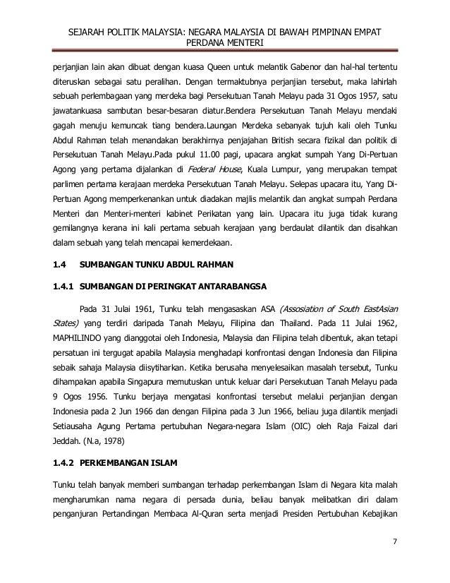 Empat Perdana Menteri Di Malaysia
