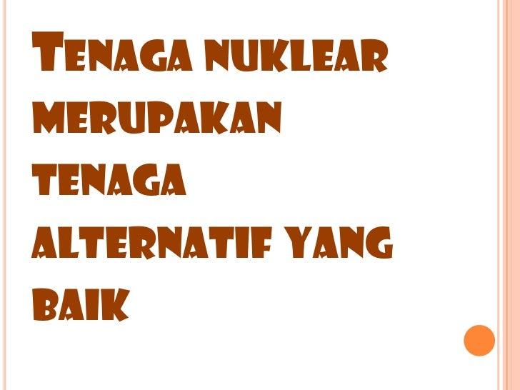kumpulan 3 tenaga nuklear