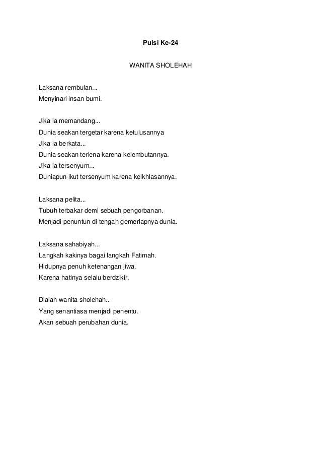 Kumpulan 30 Puisi Tentang Wanita