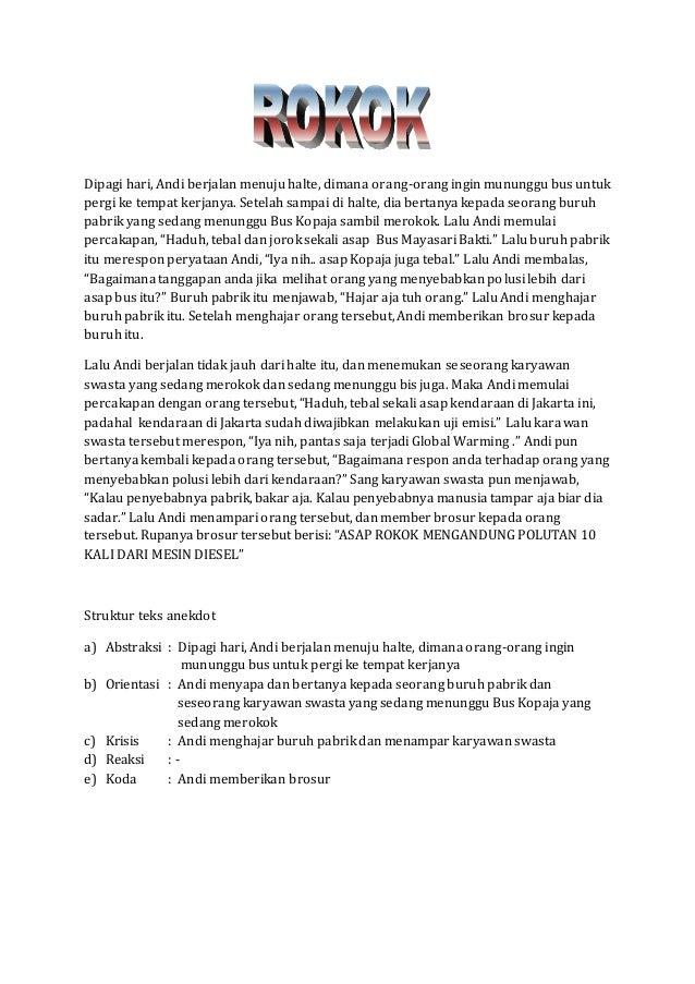Kumpulan Anekdot Dan Strukturnya