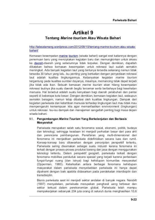 Pariwisata Bahari 9-22 Artikel 9 Tentang Marine tourism Atau Wisata Bahari http://tabeatamang.wordpress.com/2012/09/10/ten...