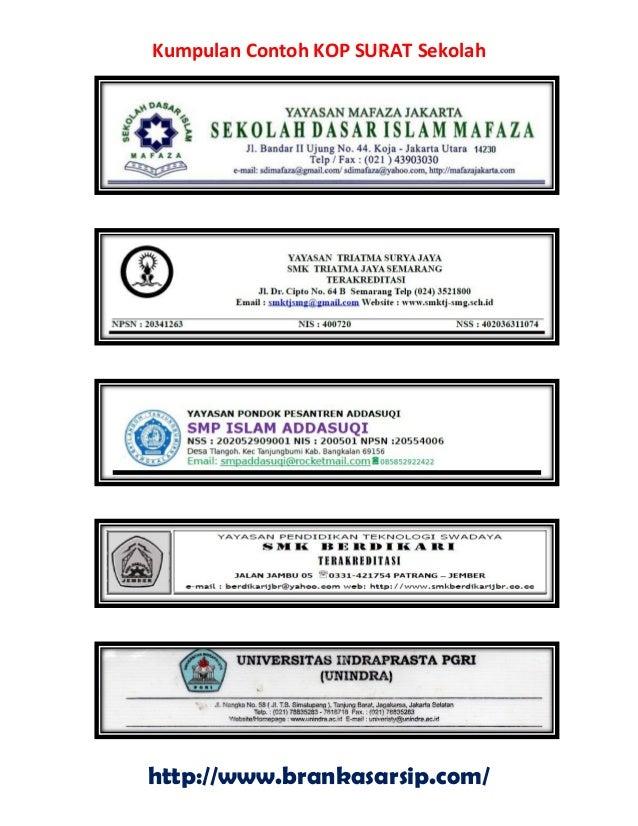 Kumpulan Contoh Kop Surat Sekolah Brankasarsipcom