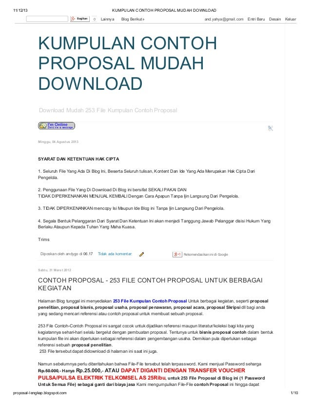 Contoh Proposal Business Plan Catering